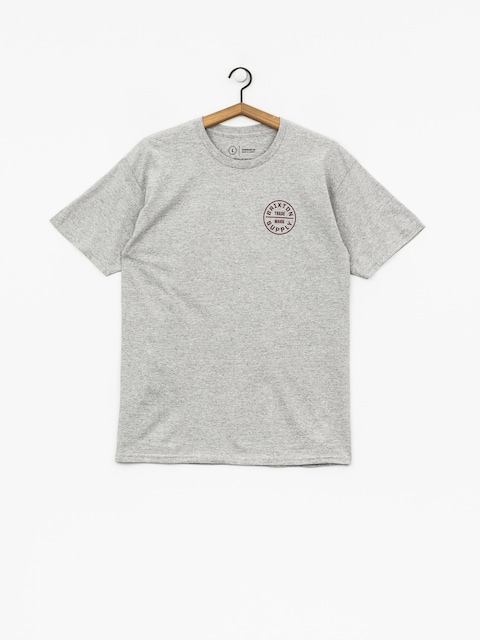 Brixton T-Shirt Oath Stt (heather grey/burgundy)