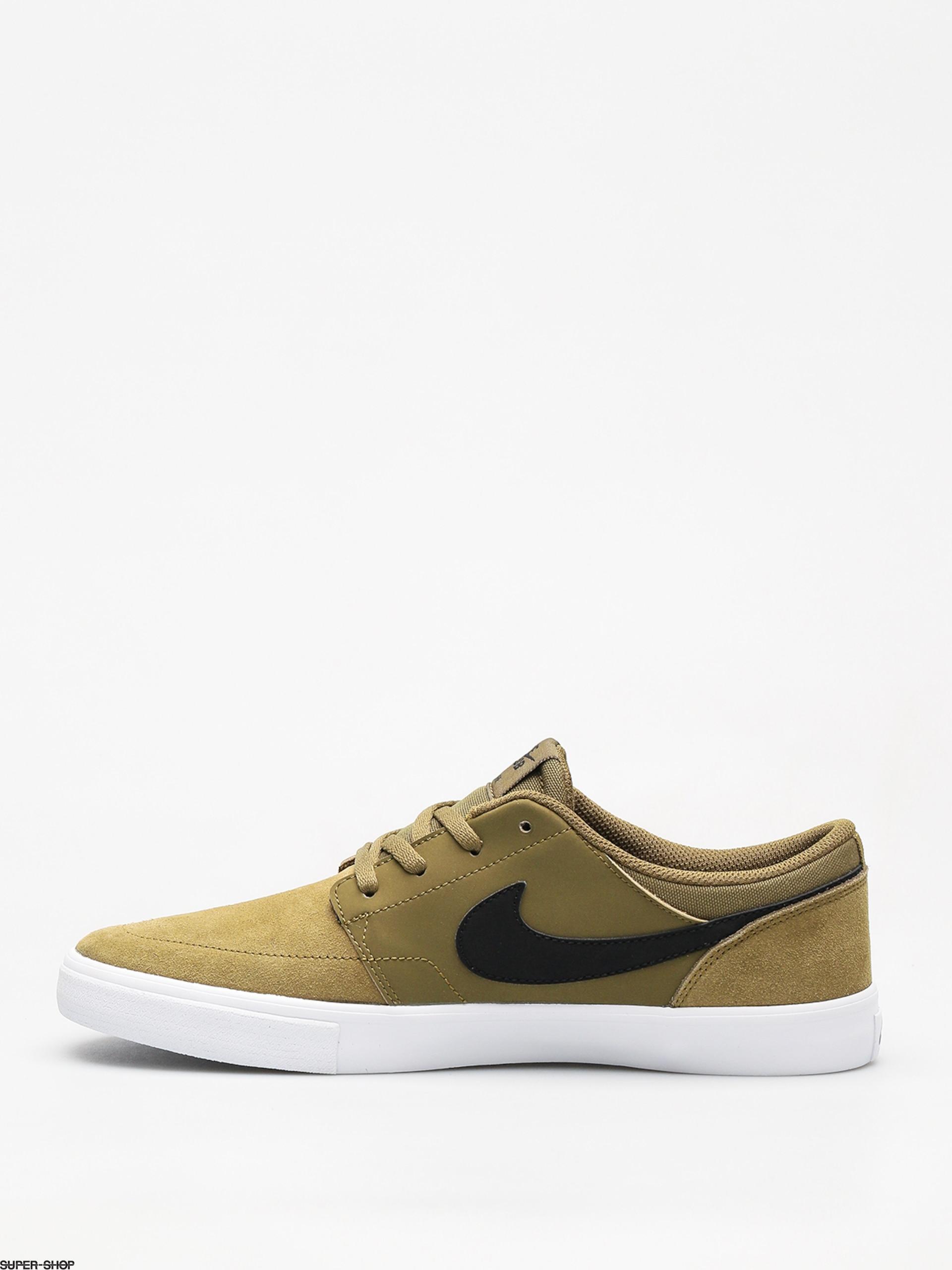 watch bf426 80949 Nike SB Sb Solarsoft Portmore II Shoes (olive flak black black white)