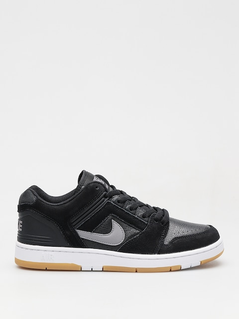 Nike SB Schuhe Sb Air Force II Low (black/gunsmoke white gum light brown)