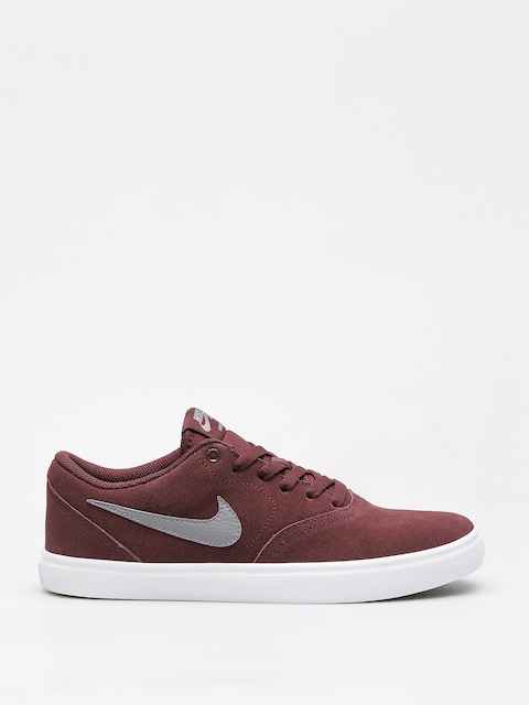 Nike SB Sb Check Solarsoft Shoes (burgundy crush/gunsmoke white black)