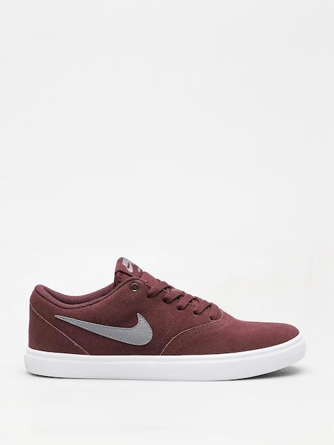 Nike SB Shoes Sb Check Solarsoft (burgundy crush/gunsmoke white black)