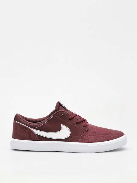 Nike SB Sb Solarsoft Portmore II Shoes (burgundy crush/white white black)