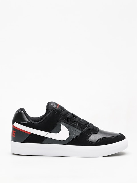Nike SB Sb Delta Force Vulc Shoes (black/white habanero red)
