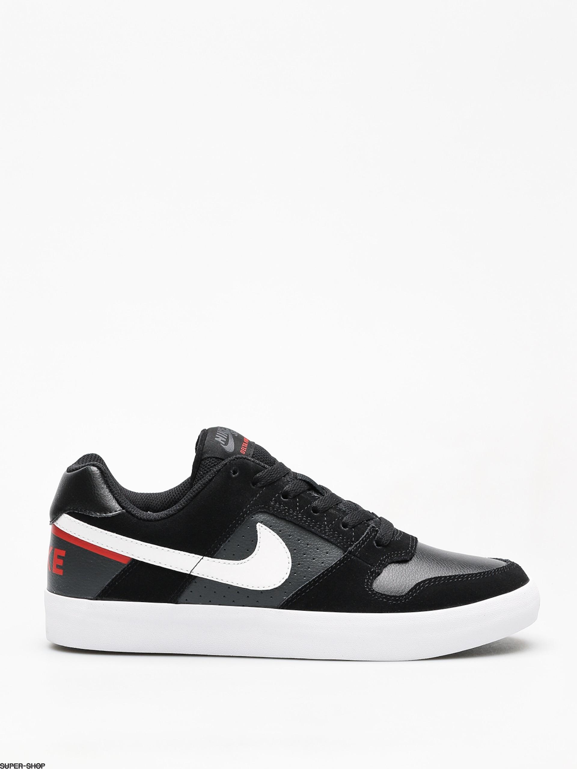 pretty nice e7ec2 e75a6 Nike SB Sb Delta Force Vulc Shoes (blackwhite habanero red)