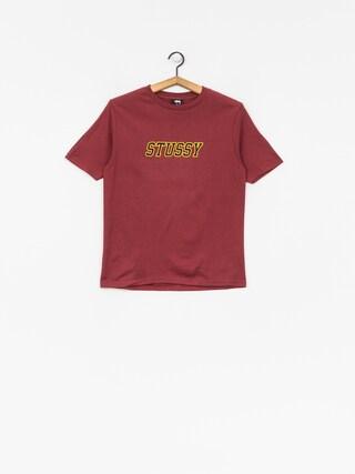 Stussy T-shirt College Tee Wmn (wine)