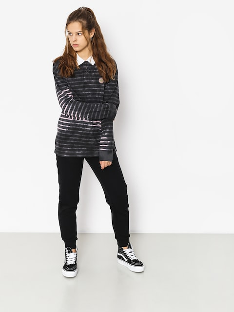 Stussy Longsleeve Lucy Bleach Stripe Rugby Wmn (charcoal)