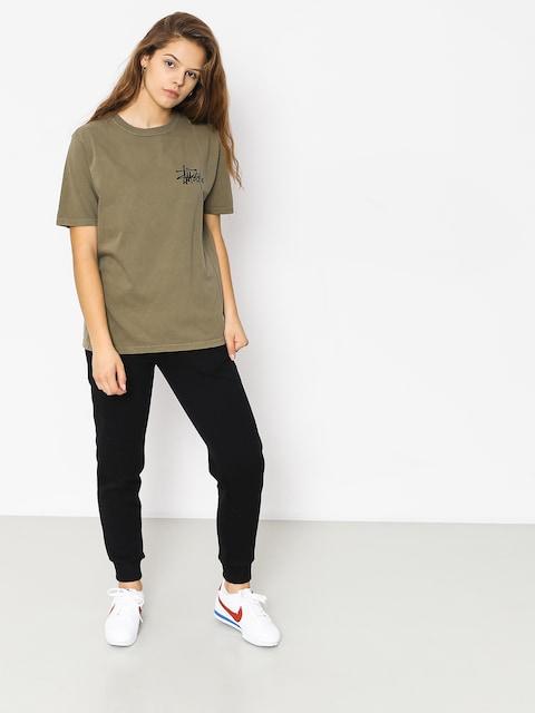 Stussy T-shirt Basic Logo Pig Dyed Wmn (army)