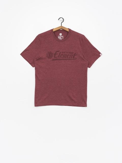 Element T-shirt Signature (oxblood heather)