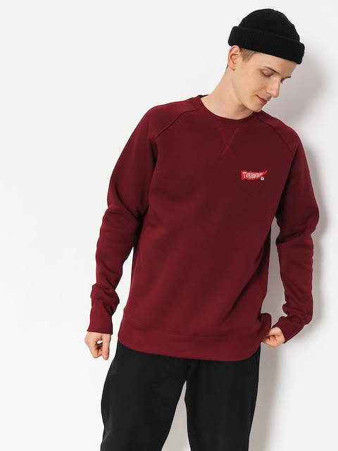 Turbokolor Sweatshirt Flag Vintage (burgundy)