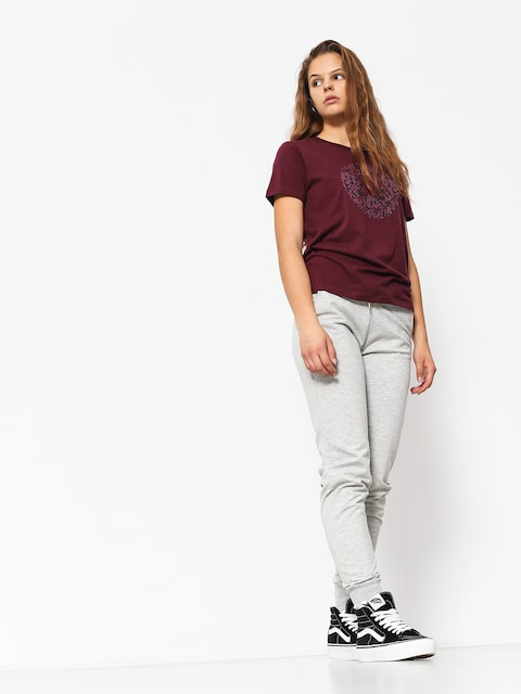 Converse T-shirt Reptile Chuck Patch Wmn (dark burgundy)