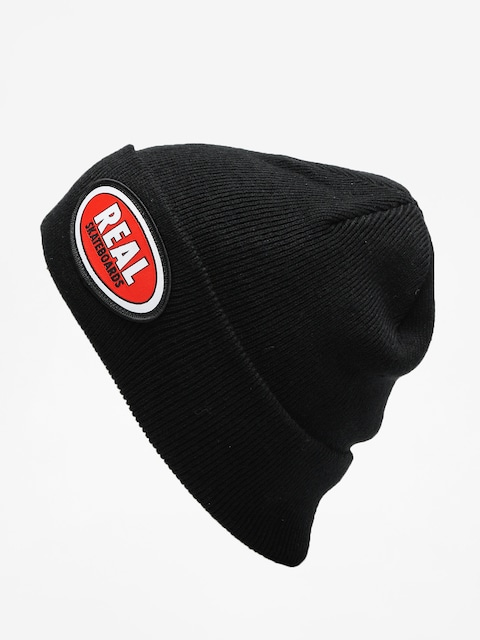 Real Beanie Oval Patch (black)