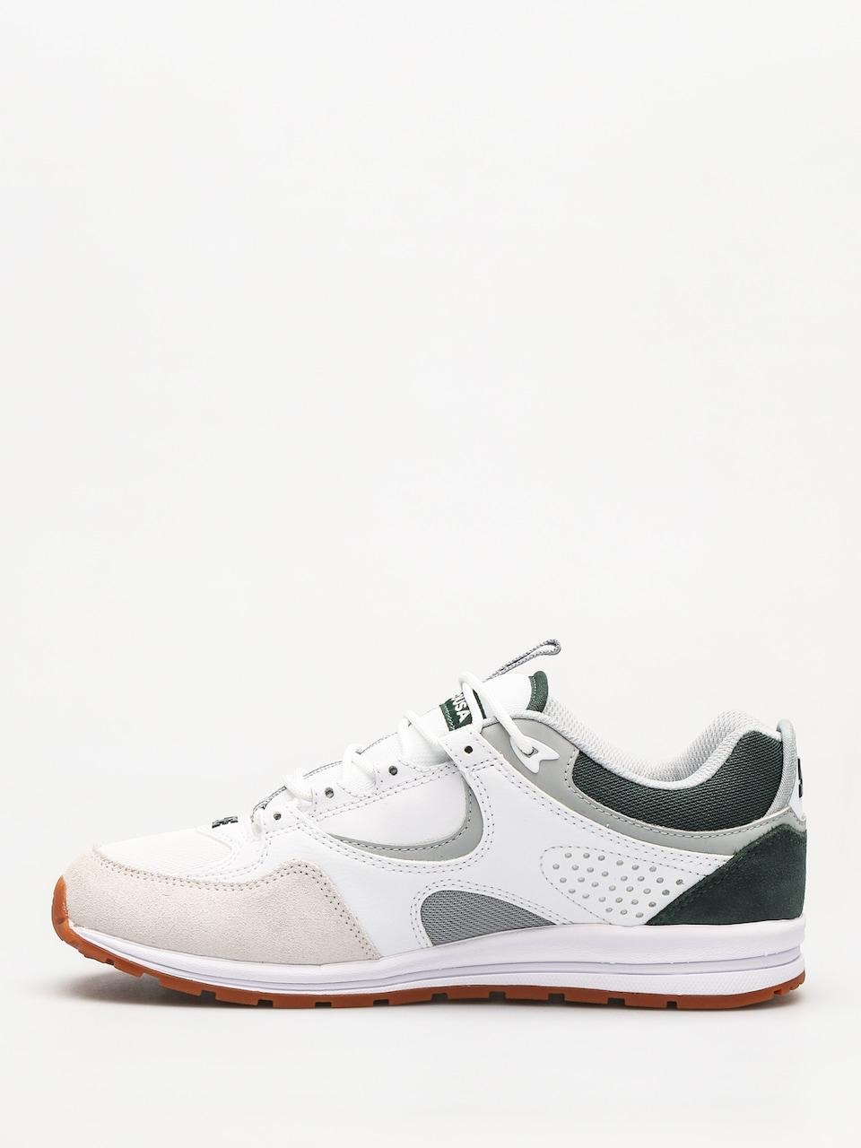 DC Shoes Kalis Lite Grey//White//Green Skate Shoes