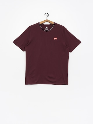 Nike SB T-Shirt Sb Striped Rib (burgundy crush/white/black)