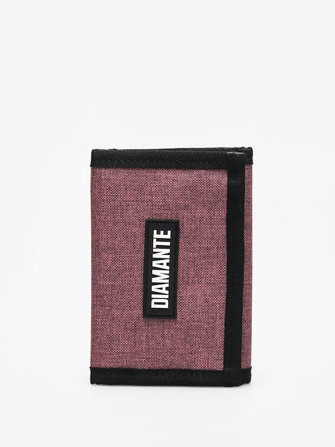 Diamante Wear Logo Black Wallet (oxblood)