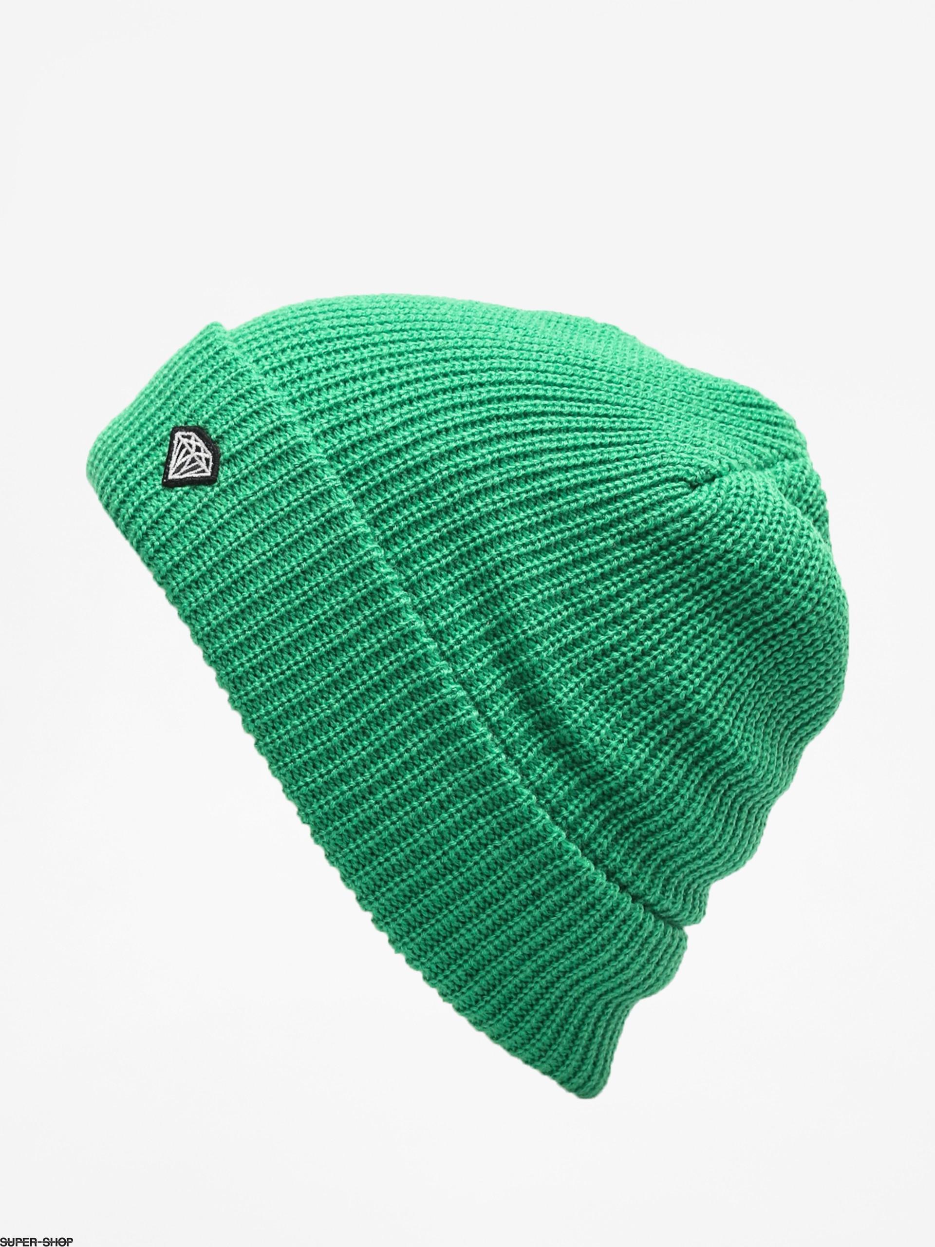 3ca2481d2f4 Diamond Supply Co. Brilliant Patch Beanie (kelly green)