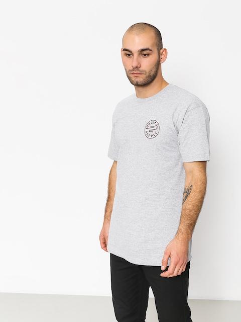Brixton T-Shirt Oath Stt (heather grey/burgundy)