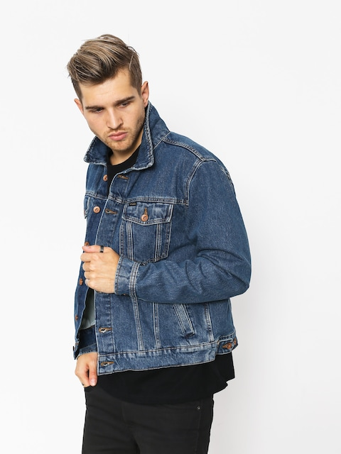 Brixton Cable Denim Jacket (worn indigo)