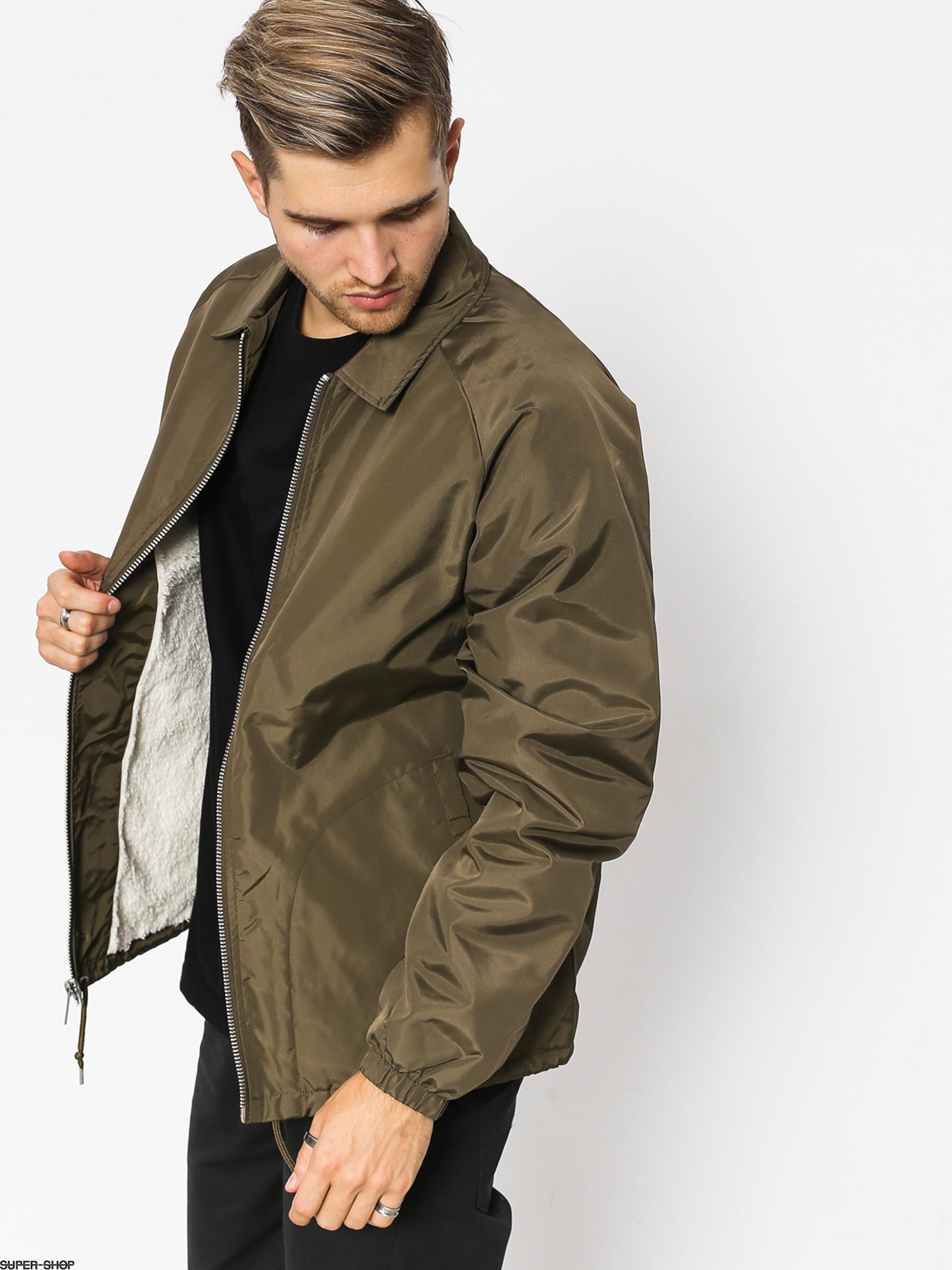 Brixton Claxton Collar Sherpa Jacket (olive) a2c975da421