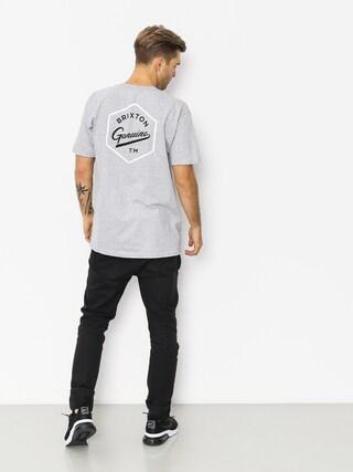 Brixton Yates Stt T-shirt (heather grey)