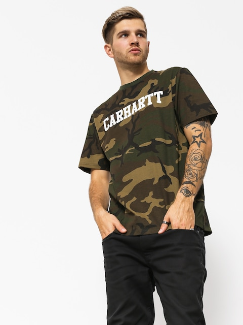 Carhartt WIP College T-Shirt (camo laurel/white)