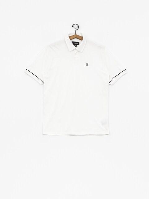 Brixton Carlos Polo t-shirt (white/black)