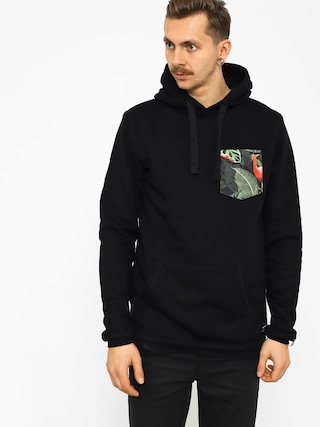 Malita Hoodie Flamingo Pocket HD (black)