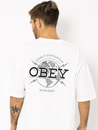 OBEY Obey World Domination Globe T-shirt (white)