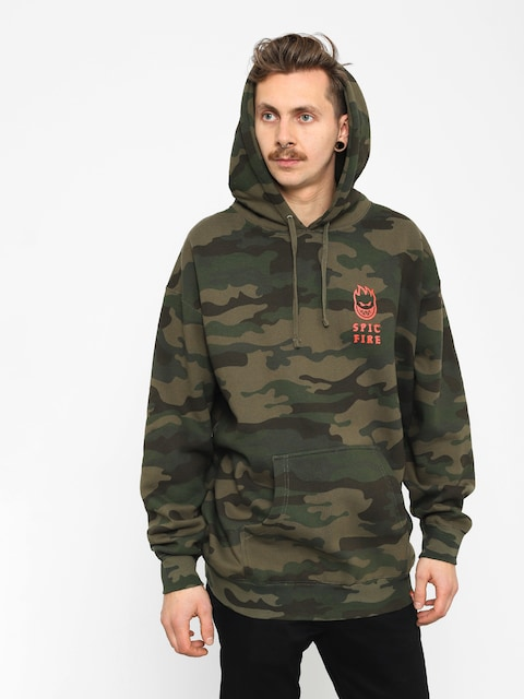 Spitfire Rocking HD Hoodie (camo/warm red)