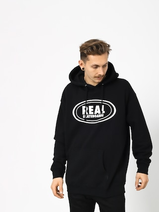 Real Og Oval HD Hoodie (black/white)