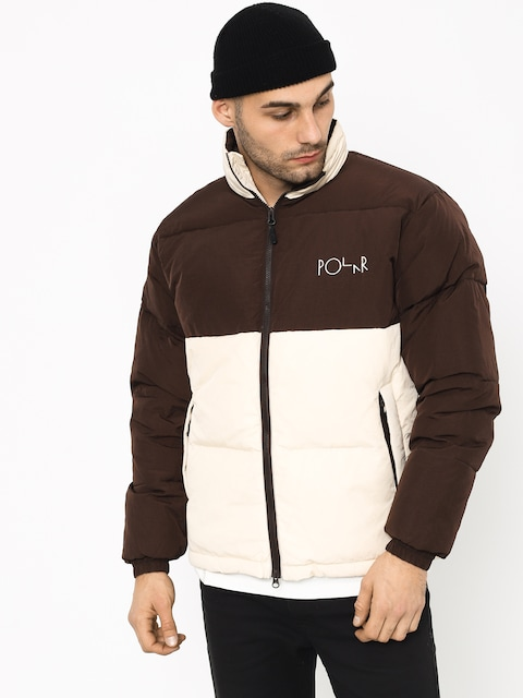 Polar Skate Combo Puffer Jacket (brown/cream)