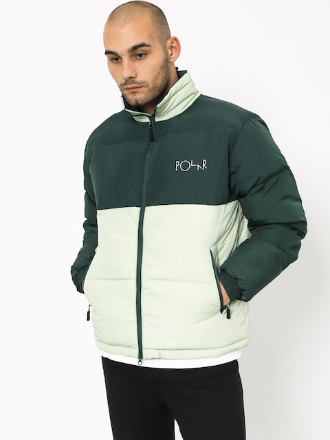 Polar Skate Combo Puffer Jacket (green/sea foam green)