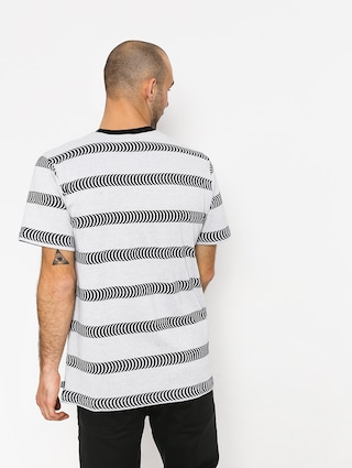 HUF Spitfire Striped Knit T-shirt (white)