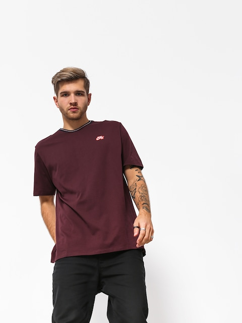 Nike SB Sb Striped Rib T-shirt (burgundy crush/white/black)