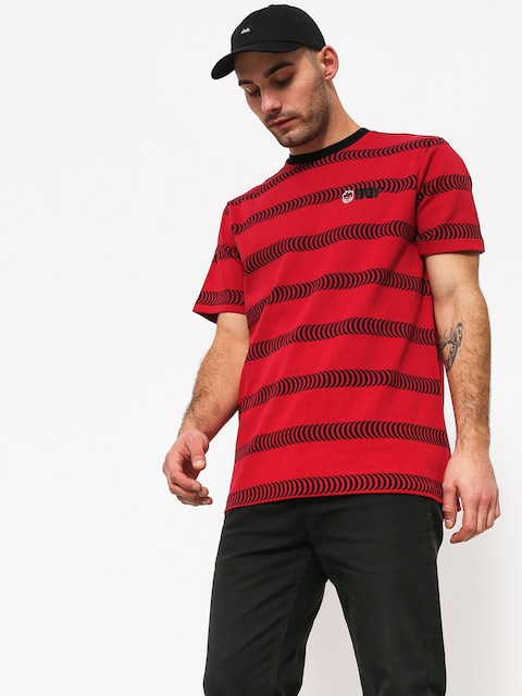 HUF Spitfire Striped Knit T-shirt (red)