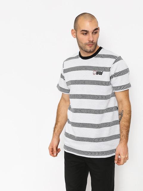 HUF Spitfire Striped Knit T-shirt (white)