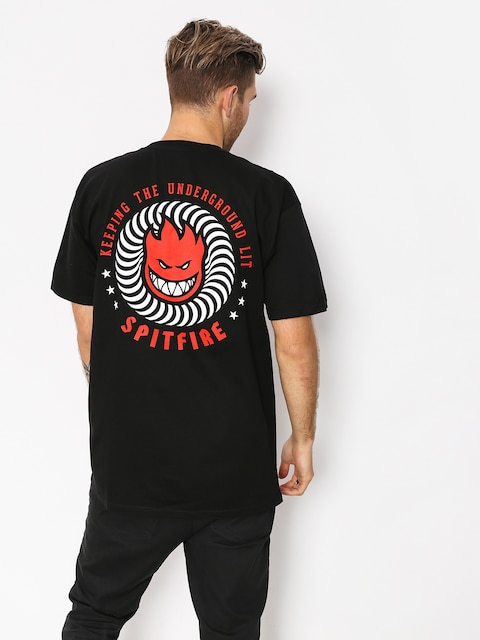 Spitfire T-shirt Ktul (black/red/white)