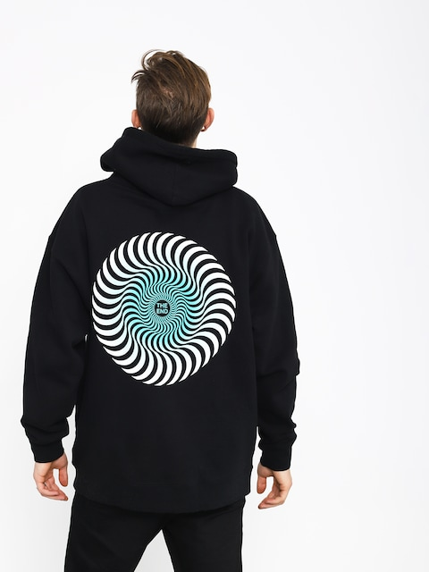 Spitfire Classic Swirl Fade Hoodie (black/turquoise)
