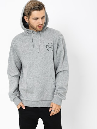 Brixton Wheeler Intl HD Hoodie (heather grey/black)