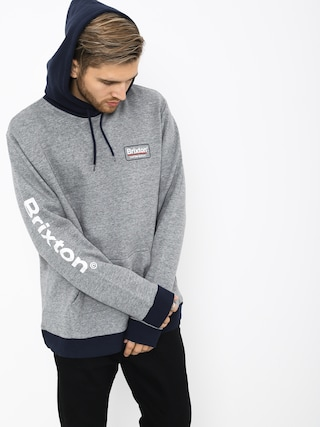 Brixton Palmer II Intl HD Hoodie (heather grey/navy)