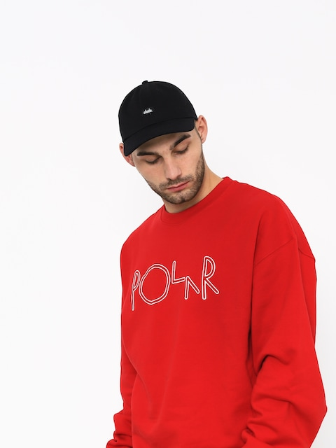 Polar Skate Script Sweatshirt (red)