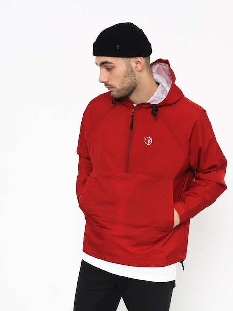 Polar Skate Ripstop Anorak Jacket (red)
