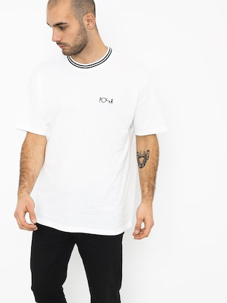Polar Skate Striped Rib T-Shirt (white/black)