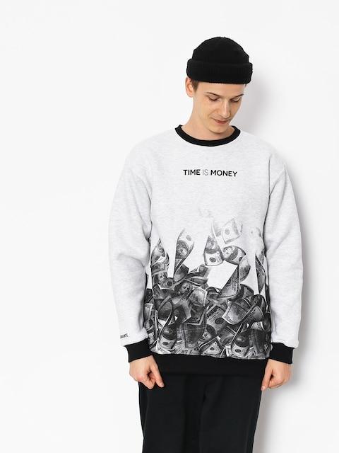 Diamante Wear Time Is Money Sweatshirt (grey)