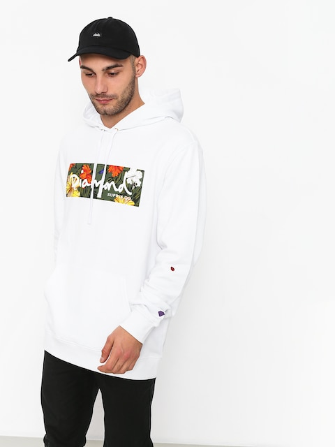 Diamond Supply Co. Aloha Floral Box Logo HD Hoodie