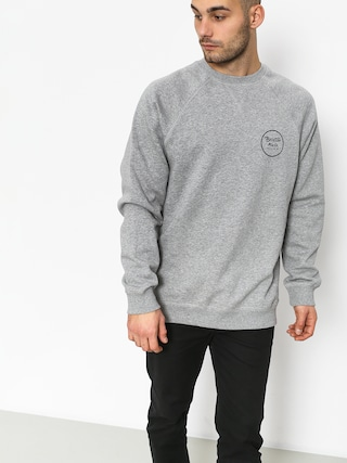 Brixton Wheeler Intl Crew Sweatshirt (heather grey)