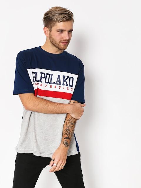 El Polako School T-shirt (navy/grey)