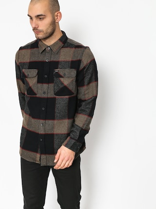 Brixton Bowery Ls Shirt (heather grey/charcoal)