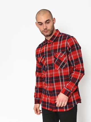 Brixton Bowery Ls Shirt (red/navy)