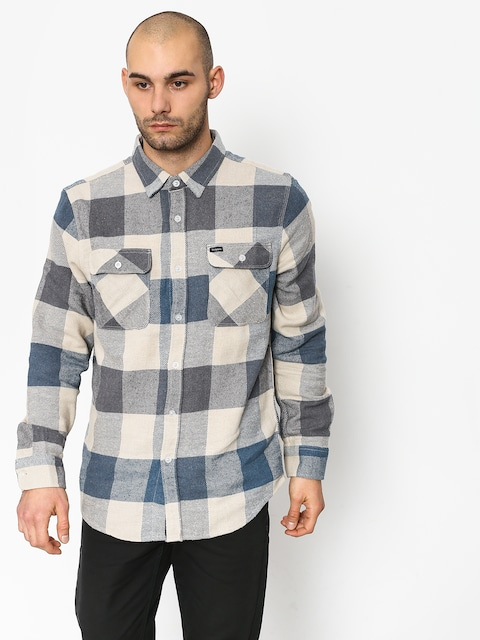 Brixton Bowery Ls Shirt (off white/dusty blue)