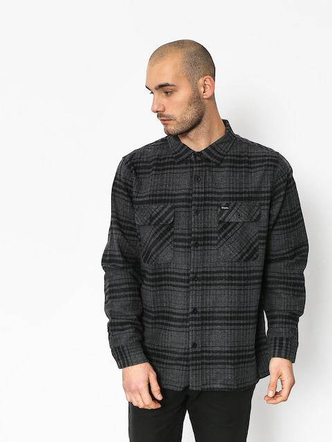 Brixton Archie Ls Shirt (black/heather charcoal)